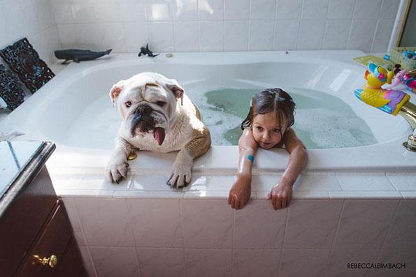 A Little Girl & Her Dog