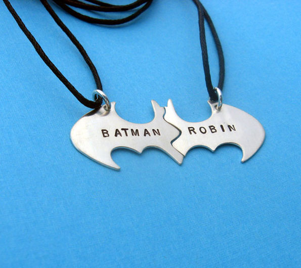 Batman & Robin BFF Necklaces