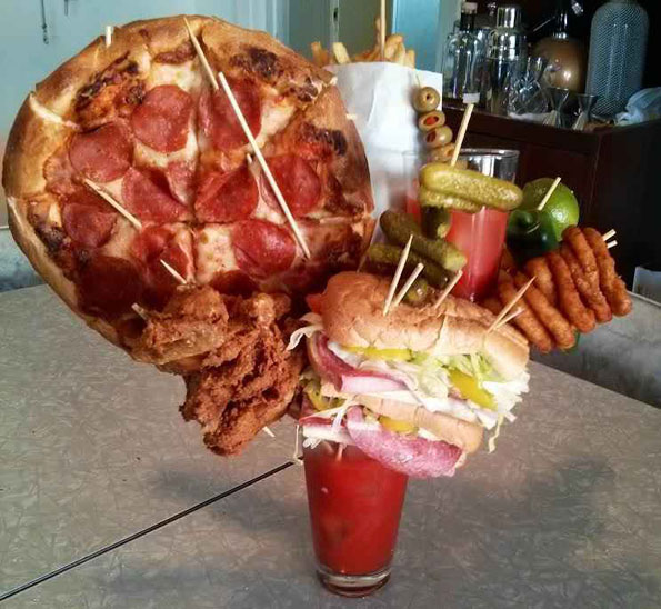 Bloody Mary Has Everything But The Kitchen Sink