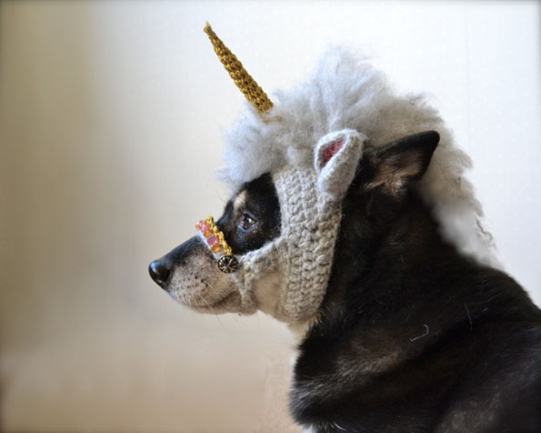 Magical Unicorn Mask For Dogs