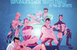Male Superheroes Reimagined As Pin-Ups