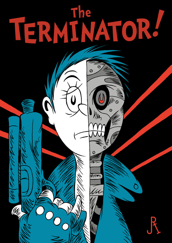 Scary Movies & Games Done Up In The Style Of Dr. Seuss