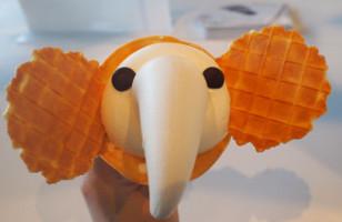 A Japanese Shop Sells Cute Elephant Trunk Ice Cream Cones
