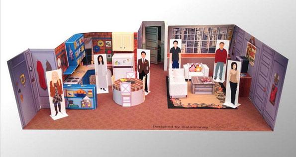 Awesome Papercraft Dioramas Of Popular TV Show Sets