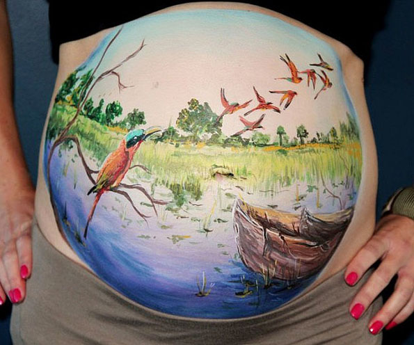 This Kit Turns Your Preggo Belly Into A Work Of Art
