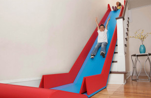 The SlideRider Turns Stairs Into A Slide