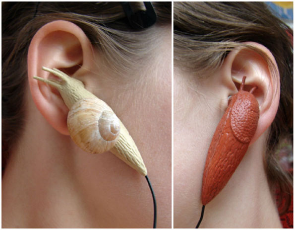 Not Sure If Gross Or Cool: Snail & Slug Earbuds