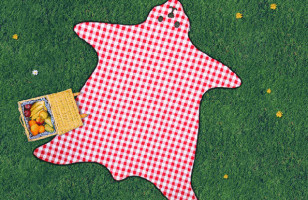 This Bear Skin Picnic Blanket Is Beary Cute