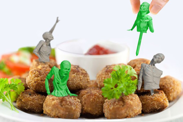 Food Picks Look Like Little Zombies, Are Unappetizing