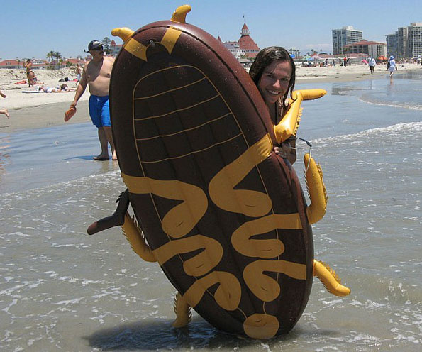 A Definite Summer Must-Have: Giant Cockroach Float