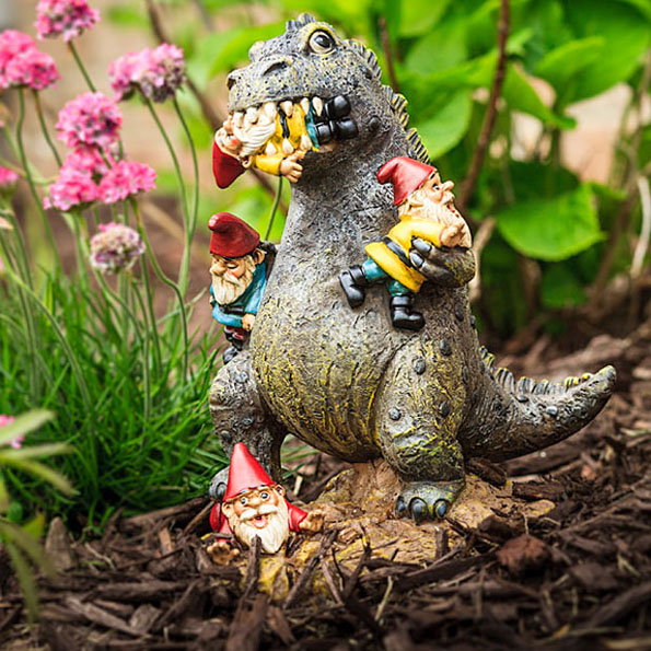 Garden Gnome-Eating Godzilla Will Keep The Pests Away