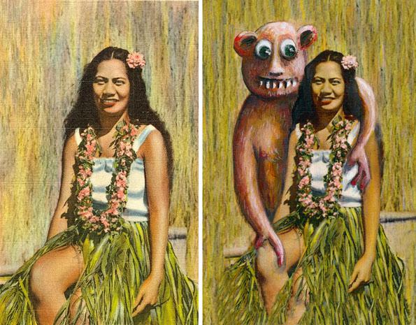 GAHHH! Monsters & Aliens Invade Thrift Shop Paintings