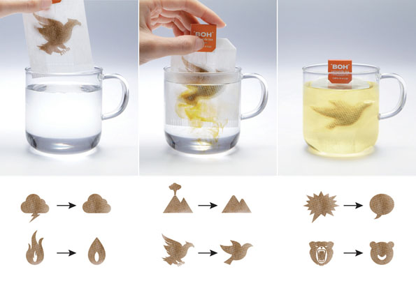 transforming tea bags go from stressed to relaxed in