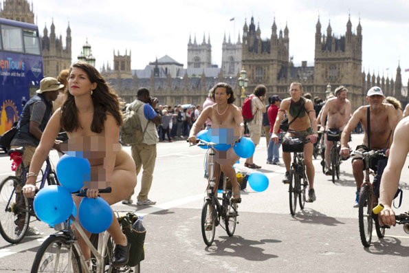The World Naked Bike Ride Has People Biking In The Buff