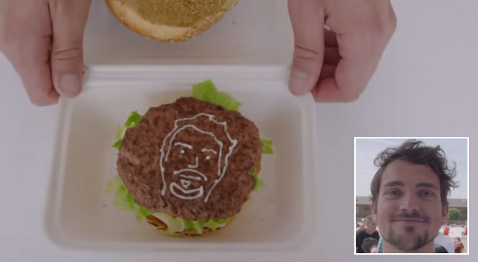 3D Printer Squirts Mayo In The Shape Of Your Selfie