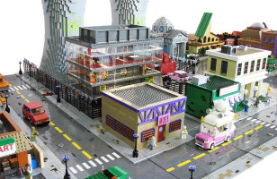 The Simpson's Hometown of Springfield In LEGO Form