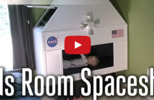 Cool Dad Builds An Elaborate Spacecraft For His Son's Room