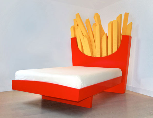 Sleep AND Mignight Snack On This French Fry Bed