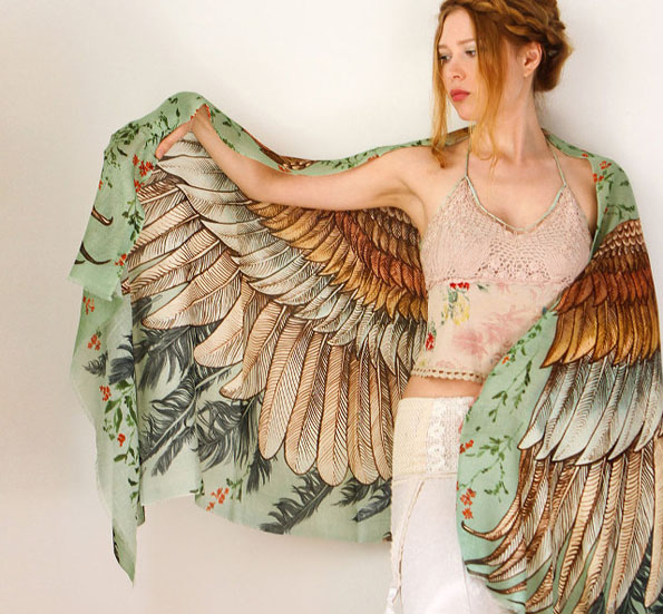 These Owl Wing-Printed Scarves Are Absolutely Stunning AF