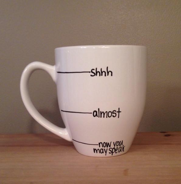 Warning Coffee Mug Indicates When It's Safe To Talk