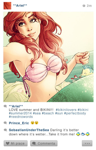 What If Disney Characters Had Instagram?