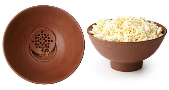 The Kernel Filtering Popcorn Bowl Makes Popcorn Eating Less Kernel-y