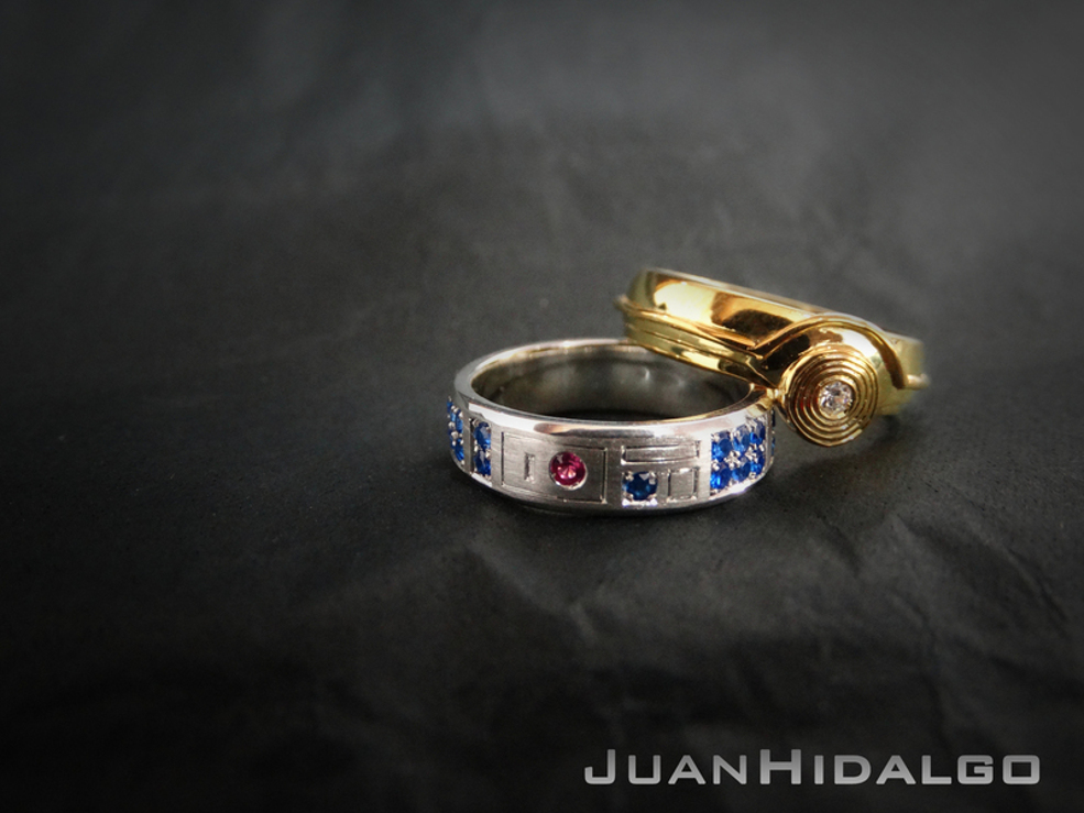 wedding side parsec custom jewelry engagement lightsaber rings takayas sailor saturn star ring wars tiara