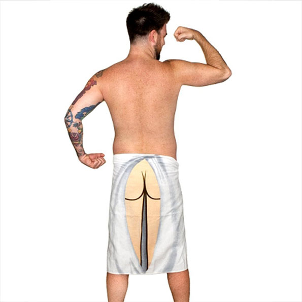 The Butt Towel: Keeping Shower Time Real Classy