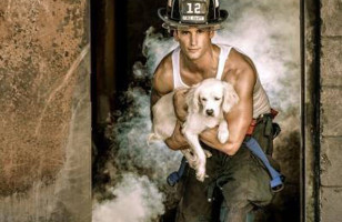 DO NEED: The Sexy Firefighters With Puppies Calendar