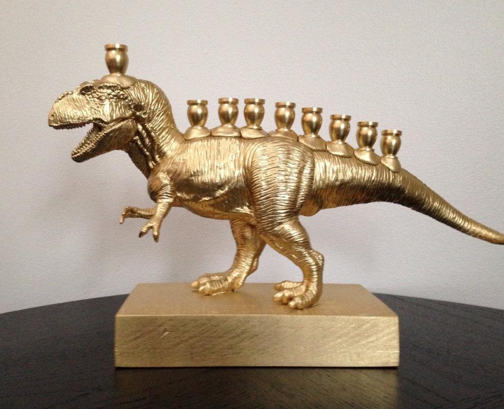 Menorasaurus Rex, The T-Rex Menorah