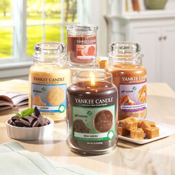Mmm, Girl Scout Cookie Candles