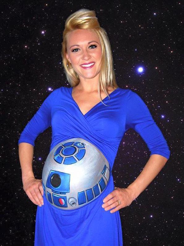 The Cutest Little R2-D2 Baby Beep Boop Bop Bump