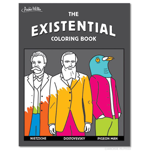 Everything Is Pointless Including The Existential Coloring Book