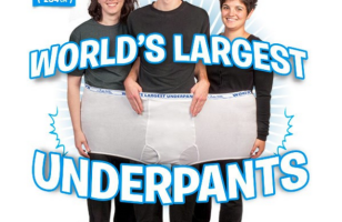 The World's Largest Underwear Can Fit Three People