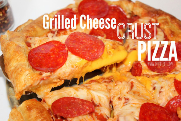 Dear Grilled Cheese Crust Pizza, You Are Absolutely Perfect