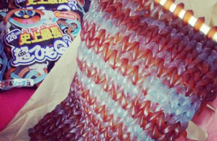 This Knitted Scarf Is Made Out Of Gummy Worms