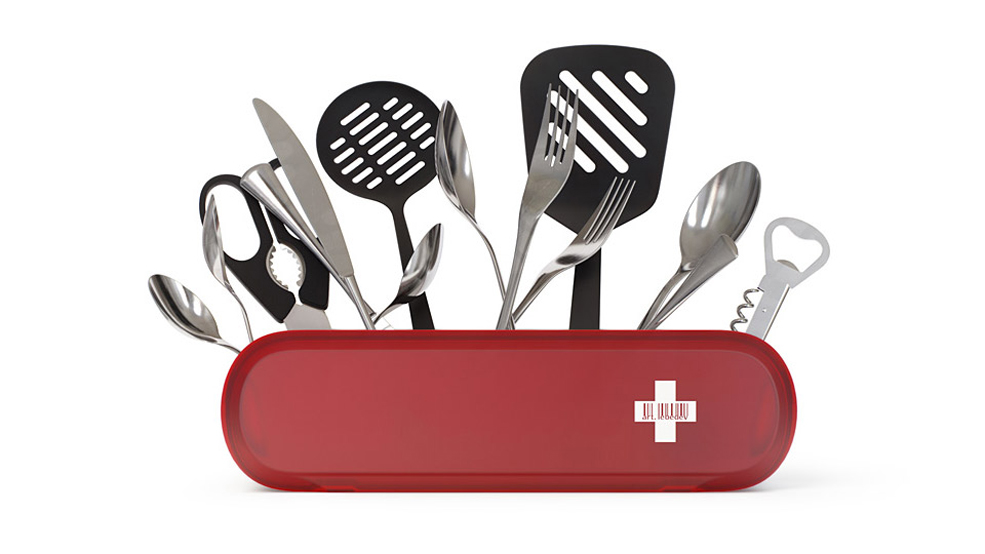 Keep Your Utensils Handy With This Swiss Army Knife Holder