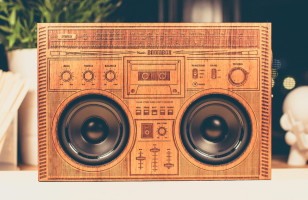 Spruce Up Your Speaker Situation With A Wooden Boombox