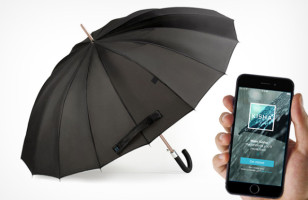 Smart Umbrella Reminds You To Take It Along When There's A Chance Of Rain