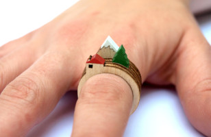 Make Mini Landscapes On Your Fingers With Stackable Rings
