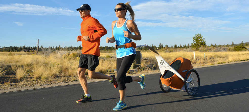 The KidRunner Is A Stroller Trailer That Pulls Behind You