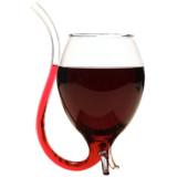 Wine Glass With Straw