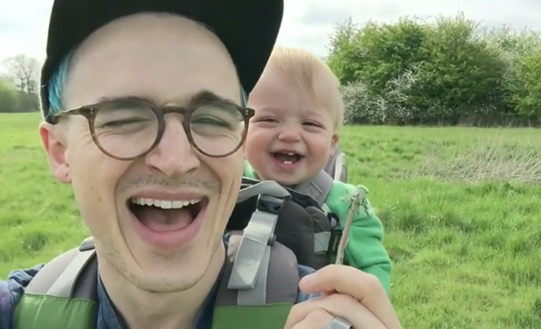 A Dandelion Sends This Baby Into A Laughing Fit