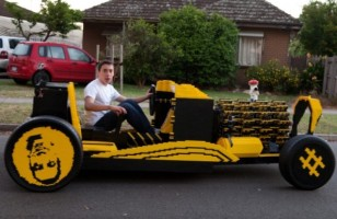 A Car Made Out Of LEGO Bricks That Runs On Compressed Air