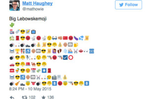 One Guy Tells The Story Of The Big Lebowski Through Emojis