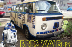 A Guy Made His Volkswagen Bus Look Kinda Like R2-D2