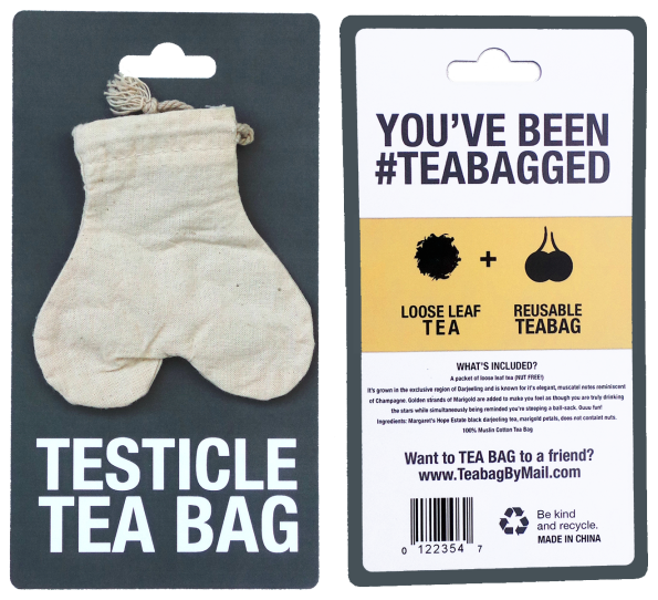 a4fe5f07a814 Anonymously Send Your Enemies A Testicle-Shaped Tea Bag