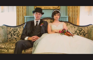 A Painfully Sweet Wes Anderson-Themed Wedding Shoot