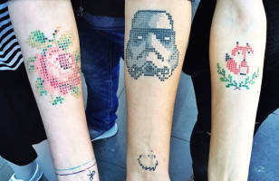Why Not Make Your Next Tattoo A Cross Stitch Tattoo?