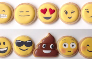 A Video Tutorial Showing How To Make Your Own Emoji Cookies!